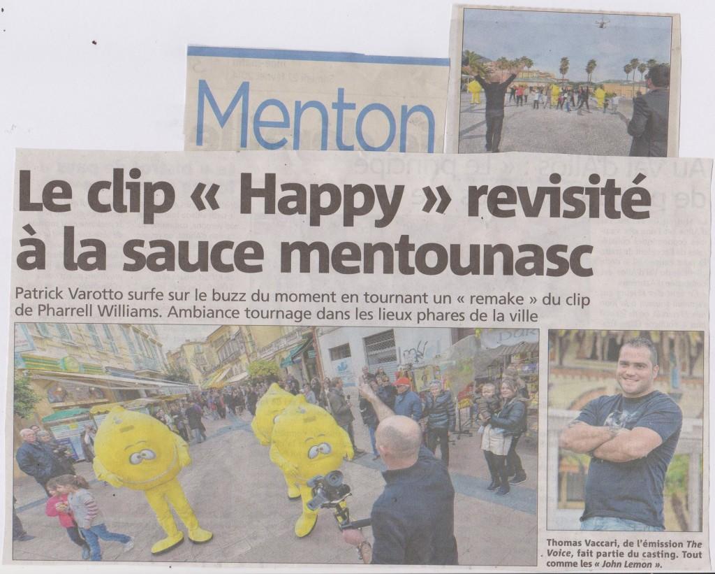 TOURNAGE HAPPY MENTON